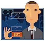 Businessman trading online Stock Photo - Premium Royalty-Free, Artist: I Dream Stock, Code: 630-03482445