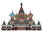 Facade of a cathedral, St. Basil's Cathedral, Red Square, Moscow, Russia Stock Photo - Premium Royalty-Freenull, Code: 630-03482589