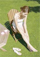 foot massage - Foot care Stock Photo - Premium Royalty-Freenull, Code: 669-03483218