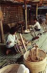 Spinning cotton in Chiang Mai, Thailand, Southeast Asia, Asia Stock Photo - Premium Rights-Managed, Artist: Robert Harding Images, Code: 841-03483762