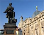 Statue of Gottfried Semper in front of Academy of Fine Arts, Dresden, Saxony, Germany Stock Photo - Premium Rights-Managed, Artist: Raimund Linke, Code: 700-03484679