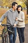 Couple Walking in Park in Autumn Stock Photo - Premium Rights-Managed, Artist: Jerzyworks, Code: 700-03484873