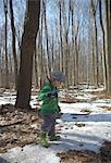 Boy Carrying Stick in Forest Stock Photo - Premium Rights-Managed, Artist: Derek Shapton, Code: 700-03484895