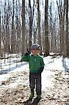 Boy Holding Stick in Forest Stock Photo - Premium Rights-Managed, Artist: Derek Shapton, Code: 700-03484896