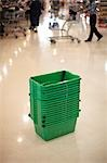 Grocery Baskets in Supermarket, North York, Ontario, Canada Stock Photo - Premium Rights-Managed, Artist: Derek Shapton, Code: 700-03484952