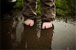 Toddler Walking through Puddles, Stratford, Ontario, Canada Stock Photo - Premium Rights-Managed, Artist: Derek Shapton, Code: 700-03484976