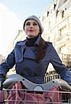 Young woman on a Velib Stock Photo - Premium Rights-Managed, Artist: ableimages, Code: 822-03485183