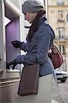 Young woman at ATM Stock Photo - Premium Rights-Managed, Artist: ableimages, Code: 822-03485225