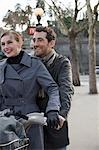 Close up of a couple on a Velib Stock Photo - Premium Rights-Managed, Artist: ableimages, Code: 822-03485226