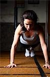 Woman doing push ups Stock Photo - Premium Rights-Managed, Artist: ableimages, Code: 822-03485249