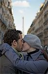 Close up of a couple kissing in a city street Stock Photo - Premium Rights-Managed, Artist: ableimages, Code: 822-03485337