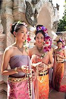 southeast asian - Thai girls in costume at a festival in Chiang Mai, Thailand, Southeast Asia, Asia Stock Photo - Premium Rights-Managednull, Code: 841-03489546