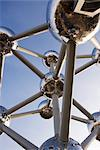 The Atomium, symbol of the 1958 Brussels World's Fair and now an iconic symbol of the city, Brussels, Belgium, Europe Stock Photo - Premium Rights-Managed, Artist: Robert Harding Images, Code: 841-03489558