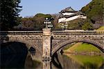 Imperial Palace and the decorative Niju-bashi bridge, Tokyo, Honshu, Japan, Asia Stock Photo - Premium Rights-Managed, Artist: Robert Harding Images, Code: 841-03489578