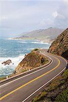Highway #1, Big Sure Coastline, California, USA Stock Photo - Premium Rights-Managednull, Code: 700-03490340