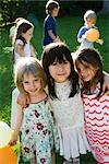 Childhood friends at outdoor party, portrait Stock Photo - Premium Royalty-Freenull, Code: 632-03500955
