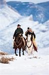 Cowboys, Shell, Big Horn County, Big Horn Mountains, Wyoming, USA