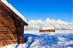 Moulton Barn in Winter, Grand Teton Mountain National Park, Wyoming, USA Stock Photo - Premium Rights-Managed, Artist: F. Lukasseck, Code: 700-03501245