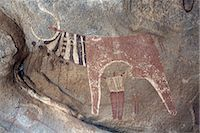 prehistoric - Five thousand year-old cave paintings in Lass Geel caves, Somaliland, northern Somalia, Africa Stock Photo - Premium Rights-Managednull, Code: 841-03502447