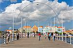 Queen Emma Bridge, Willemstad, UNESCO World Heritage Site, Curacao, Netherlands Antilles, West Indies, Caribbean, Central America Stock Photo - Premium Rights-Managed, Artist: Robert Harding Images, Code: 841-03502474