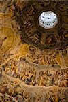 Inside the dome of the Duomo, Florence, Tuscany, Italy, Europe