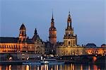 Dresden Skyline and River Elbe at Dusk, Dresden, Saxony, Germany Stock Photo - Premium Rights-Managed, Artist: Raimund Linke, Code: 700-03502768