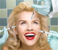 Woman Receiving Botox Treatments Stock Photo - Premium Rights-Managednull, Code: 700-03502775