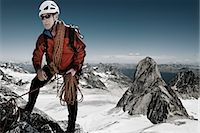 extreme terrain - Mountain Climber, Bugaboos, British Columbia, Canada Stock Photo - Premium Rights-Managednull, Code: 700-03502792