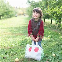 single fruits tree - Little Girl in Apple Orchard Stock Photo - Premium Rights-Managednull, Code: 700-03502976