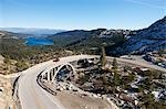 Vintage 4x4 Driving across Historic Bridge at Donner Summit, near Lake Tahoe, California, USA Stock Photo - Premium Rights-Managed, Artist: Ty Milford, Code: 700-03503025