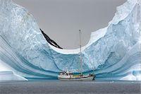 Yacht Anchored in Iceberg, Antarctica Stock Photo - Premium Rights-Managednull, Code: 700-03503166