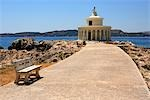 Greece, ionian islands, Cefalonia, Argostoli, lighthouse of Saint Theodor. Stock Photo - Premium Royalty-Freenull, Code: 610-03503478
