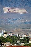 Cyprus, Nicosia, painted flag on the mountain Stock Photo - Premium Royalty-Freenull, Code: 610-03504623
