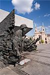 Monument to the Warsaw Uprising (Pomnik Powstania Warszawskiego), unveiled in 1989 on the 45th anniversary of the uprising, Warsaw, Poland, Europe Stock Photo - Premium Rights-Managed, Artist: Robert Harding Images, Code: 841-03505131