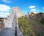 Elevated panoramic view of the Jinshanling section, Great Wall of China, UNESCO World Heritage Site, near Beijing, China, Asia Stock Photo - Premium Rights-Managed, Artist: Robert Harding Images, Code: 841-03505161