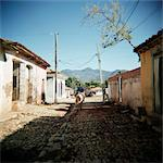 Street scene with man on horseback, Trinidad, Cuba, West Indies, Central America Stock Photo - Premium Rights-Managed, Artist: Robert Harding Images, Code: 841-03505215