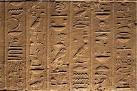 egyptian hieroglyphics - Hieroglyphs adorn the walls of the Temple of Philae, UNESCO World Heritage Site, near Aswan, Egypt, North Africa, Africa Stock Photo - Premium Rights-Managednull, Code: 841-03507929