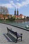 Bench, Wroclaw Cathedral, Cathedral Island, Wroclaw, Dolnoslaskie Province, Poland Stock Photo - Premium Rights-Managed, Artist: Raimund Linke, Code: 700-03508181