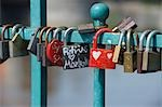 Close-up of Locks of Love, Wroclaw, Lower Silesian Voivodeship, Poland Stock Photo - Premium Royalty-Free, Artist: Raimund Linke, Code: 600-03508259