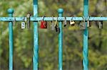 Close-up of Locks of Love, Wroclaw, Lower Silesian Voivodeship, Poland Stock Photo - Premium Royalty-Free, Artist: Raimund Linke, Code: 600-03508261