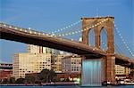 Brooklyn Bridge and New York City Waterfalls, New York City, New York, USA Stock Photo - Premium Rights-Managed, Artist: Rudy Sulgan, Code: 700-03508201