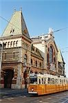 Central Market and Streetcar, Budapest, Hungary Stock Photo - Premium Rights-Managed, Artist: Rudy Sulgan, Code: 700-03508203