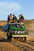 Passengers on Off-road Vehicle, Marsabit, Kenya Stock Photo - Premium Rights-Managednull, Code: 700-03508273