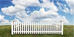White Picket Fence Stock Photo - Premium Rights-Managed, Artist: Andrew Kolb, Code: 700-03508553