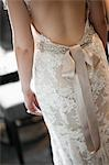 Close-Up of Bride Wearing Wedding Gown Stock Photo - Premium Rights-Managed, Artist: Ikonica, Code: 700-03508822