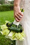 Close-Up of Bride's Hand Holding Bouquet Stock Photo - Premium Rights-Managed, Artist: Ikonica, Code: 700-03508828