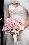 Bride Holding Bouquet Stock Photo - Premium Rights-Managed, Artist: Ikonica, Code: 700-03508831