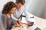 Couple doing account stuff Stock Photo - Premium Royalty-Freenull, Code: 649-03510738