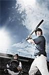 Baseball player swinging baseball bat Stock Photo - Premium Royalty-Free, Artist: Masterfile, Code: 635-03515715