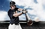 Baseball player swinging baseball bat Stock Photo - Premium Royalty-Free, Artist: Aflo Sport               , Code: 635-03515717